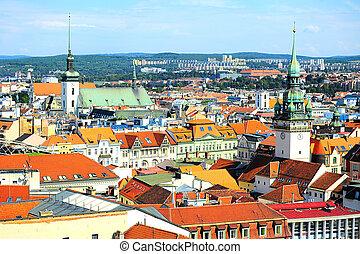 Brno cityscape - Skyline of Brno city in the sunny day, ...