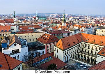 Brno historic center - View of the historic center in Brno ...