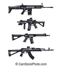 broń, karabin, komplet