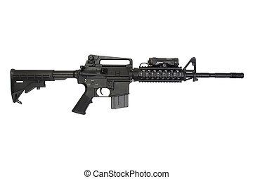 broń, nowoczesny, odizolowany, tło, biały