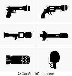 broń, od, informacja, wojny