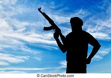 broń, terrorysta, sylwetka