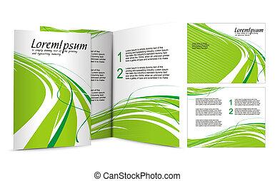 brožura, design
