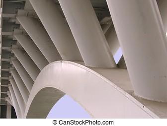 bro, från, nedanför