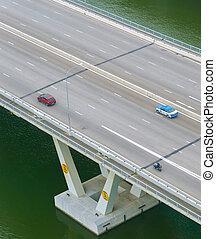 bro, hovedkanalen, singapore, bilerne