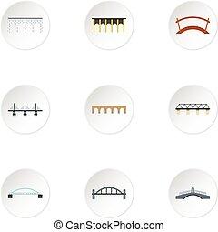 bro, ikonen, sätta, lägenhet, stil