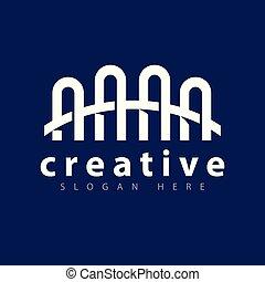 bro, logo, ikon, vektor, mall