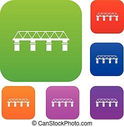 bro, sätta, kollektion