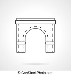 bro skälmska, element, lägenhet fodra, vektor, ikon