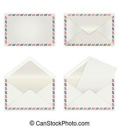 broad envelope - A set of four blank envelopes. The...