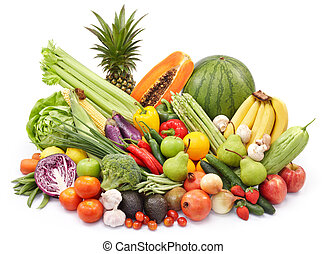 vegetables and fruits - broad variety of vegetables and...