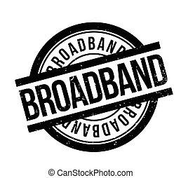 Broadband rubber stamp. Grunge design with dust scratches....