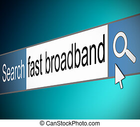Broadband search.