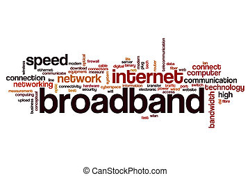Broadband word cloud concept