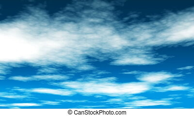 Broadcast Clouds Fly Through, Blue, Sky, 4K