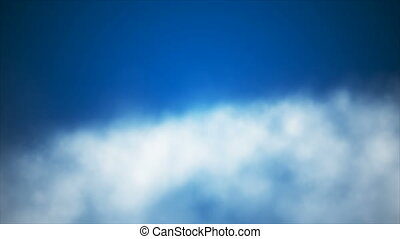 Broadcast Clouds Fly Through, Blue, Sky, Loopable, 4K -...