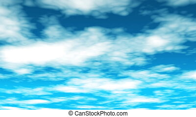 Broadcast Clouds Fly Through, Sky, Abstract, HD