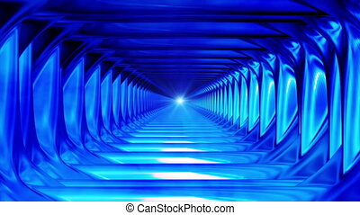 Broadcast Endless Hi-Tech Tunnel, Blue, Abstract, HD