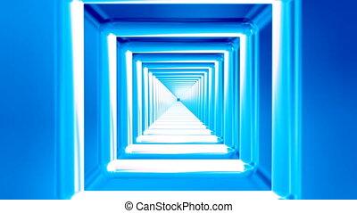 Broadcast Endless Hi-Tech Tunnel, Blue, Industrial, 4K