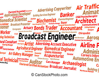 Broadcast Engineer Represents Employee Text And Jobs