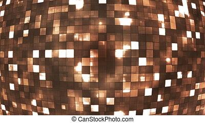 Broadcast Firey Light Hi-Tech Squares Globe, Brown,...