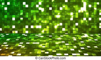 Broadcast Firey Light Hi-Tech Squares Stage, Green,...