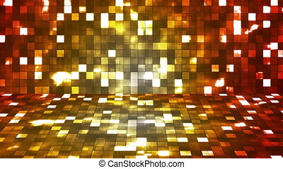 Broadcast Firey Light Hi-Tech Squares Stage, Multi Color, Abstract, Loopable, HD