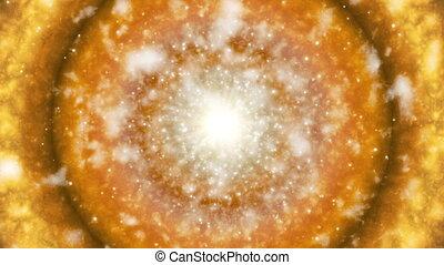 Broadcast Hi-Tech Firey Celestial Body, Multi Color, Space, Loopable, HD