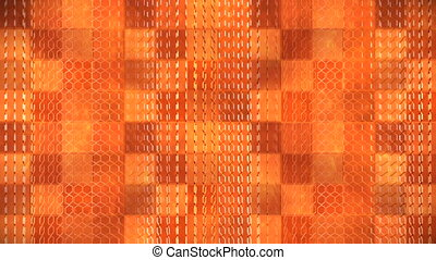 Broadcast Hi-Tech Spinning Honey Comb Patterns, Orange, Abstract, 3D, Loopable, HD