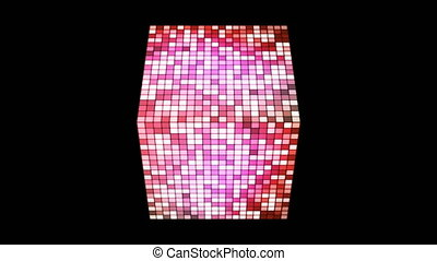 Broadcast Hi-Tech Twinkling Spinning Cube, Magenta Red,...