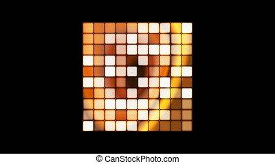 Broadcast Hi-Tech Twinkling Spinning Cube, Orange Golden,...