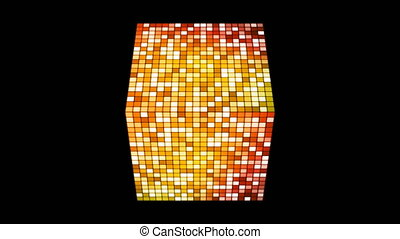 Broadcast Hi-Tech Twinkling Spinning Cube, Orange Red,...