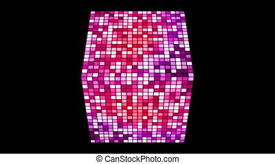 Broadcast Hi-Tech Twinkling Spinning Diamond, Magenta Purple, Events, Alpha Matte, Loopable, 4K