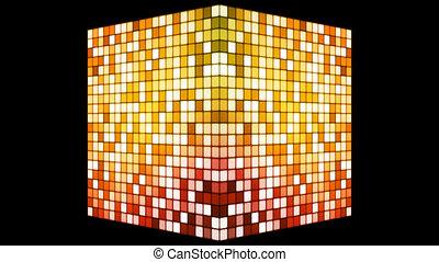 Broadcast Hi-Tech Twinkling Spinning Cube, Orange, Alpha...