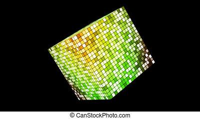 Broadcast Hi-Tech Twinkling Spinning Cube, Green, Alpha...