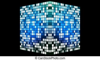 Broadcast Hi-Tech Twinkling Spinning Cube, Blue, Alpha...