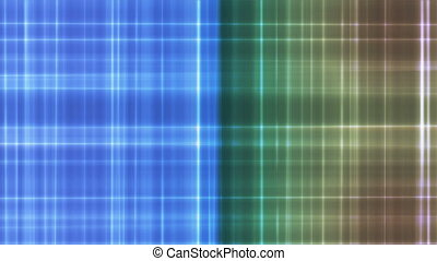 Broadcast Intersecting Hi-Tech Lines, Blue Green, Abstract, Loopable, 4K