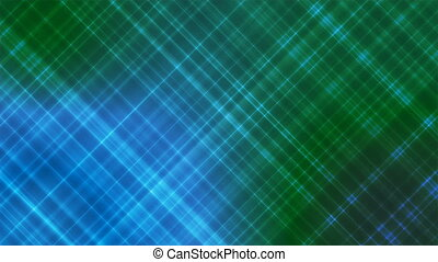Broadcast Intersecting Hi-Tech Slant Lines, Blue Green, Abstract, Loopable, 4K
