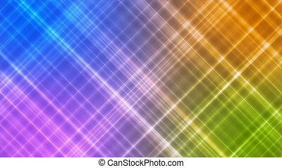 Broadcast Intersecting Hi-Tech Slant Lines, Multi Color,...
