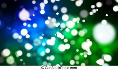 Broadcast Light Bokeh, Blue Green, Events, Loopable, 4K -...