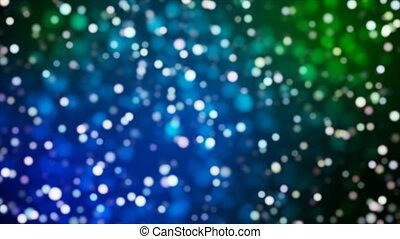 Broadcast Light Bokeh, Blue Green, Events, Loopable, 4K