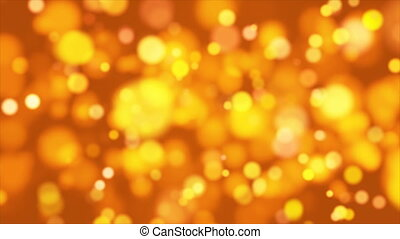 Broadcast Light Bokeh, Golden Orange, Events, Loopable, 4K -...