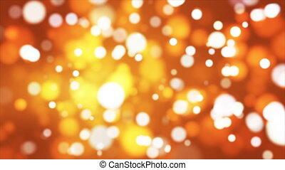 Broadcast Light Bokeh, Orange Golden, Events, Loopable, 4K -...