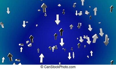Broadcast Rising Hi-Tech Arrows, Blue, Corporate, Loopable,...