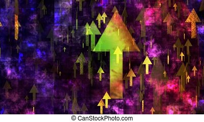 Broadcast Rising Hi-Tech Arrows, Multi Color, Corporate, Loopable, 4K