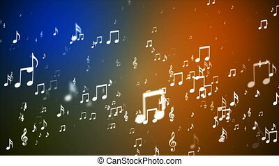 Broadcast Rising Music Notes, Multi Color, Events, Loopable,...
