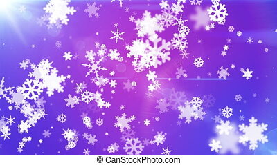 Broadcast Snow Flakes, Blue Purple, Events, Loopable, HD