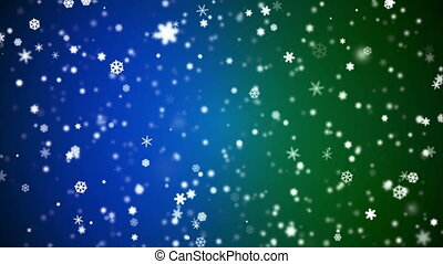 Broadcast Snow Flakes, Multi Color, Events, Loopable, HD