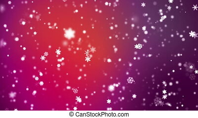 Broadcast Snow Flakes, Red, Events, Loopable, HD