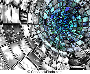 Broadcast Tunnel composed entirely of my images